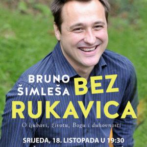 "Promocije knjige ""Bez rukavica"" Brune Šimleše naslovnica"
