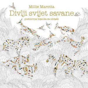 Naslovnica knjige: Divlji svijet savane – bojanka za odrasle