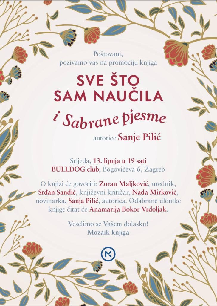 Promocija knjiga Sanje Pilić Sve što sam naučila i Sabrane pjesme - fotka
