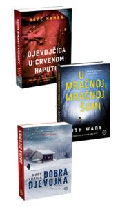 Naslovnica knjige: KOMPLET: DJEVOJČICA U CRVENOM KAPUTU + U MRAČNOJ, MRAČNOJ ŠUMI + DOBRA DJEVOJKA