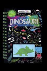 Naslovnica knjige: Ostruži i oboji: dinosauri