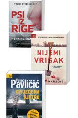 Naslovnica knjige: Komplet: Psi iz Rige + Nijemi vrisak + Cvijeće na vjetru