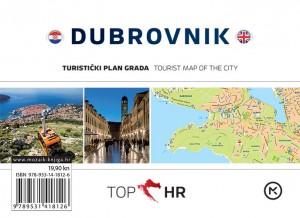 Naslovnica knjige: TOP HR – DUBROVNIK HRV-ENG plan grada