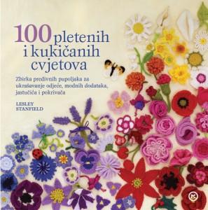Naslovnica knjige: 100 pletenih i kukičanih cvjetova
