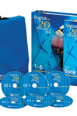 Naslovnica knjige: ENGLISH IN 20 MINUTES A DAY – stage 1-6