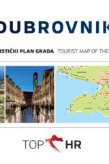 Naslovnica knjige: TOP HR – DUBROVNIK HRV-ENG plan grada / map of the city