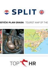 Naslovnica knjige: TOP HR – SPLIT HRV-ENG plan grada / map of the city