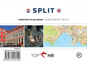 Naslovnica knjige: TOP HR – SPLIT HRV-ENG plan grada / map of the city