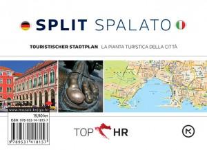 Naslovnica knjige: TOP HR – SPLIT / SPALATO NJEM-TAL stadtplan / la pianta della citta