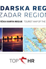 Naslovnica knjige: TOP HR – ZADARSKA REGIJA / ZADAR REGION HRV-ENG karta regije / map of the region