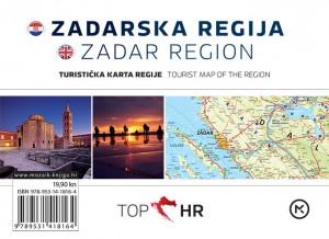 Naslovnica knjige: TOP HR – ZADARSKA REGIJA / ZADAR REGION HRV-ENG karta regije / map of the region