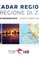 Naslovnica knjige: TOP HR – ZADAR REGION / LA REGIONE DI ZARA NJEM-TAL regionskarte / la pianta della regione