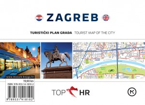 Naslovnica knjige: TOP HR – ZAGREB HRV-ENG plan grada / map of the city