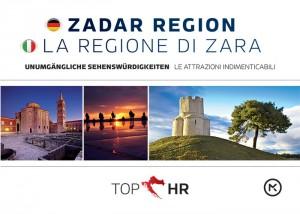 Naslovnica knjige: TOP HR – ZADAR REGION / LA REGIONE DI ZARA NJEM-TAL