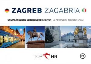 Naslovnica knjige: TOP HR – ZAGREB / ZAGABRIA NJEM-TAL stadtplan / la pianta della citta